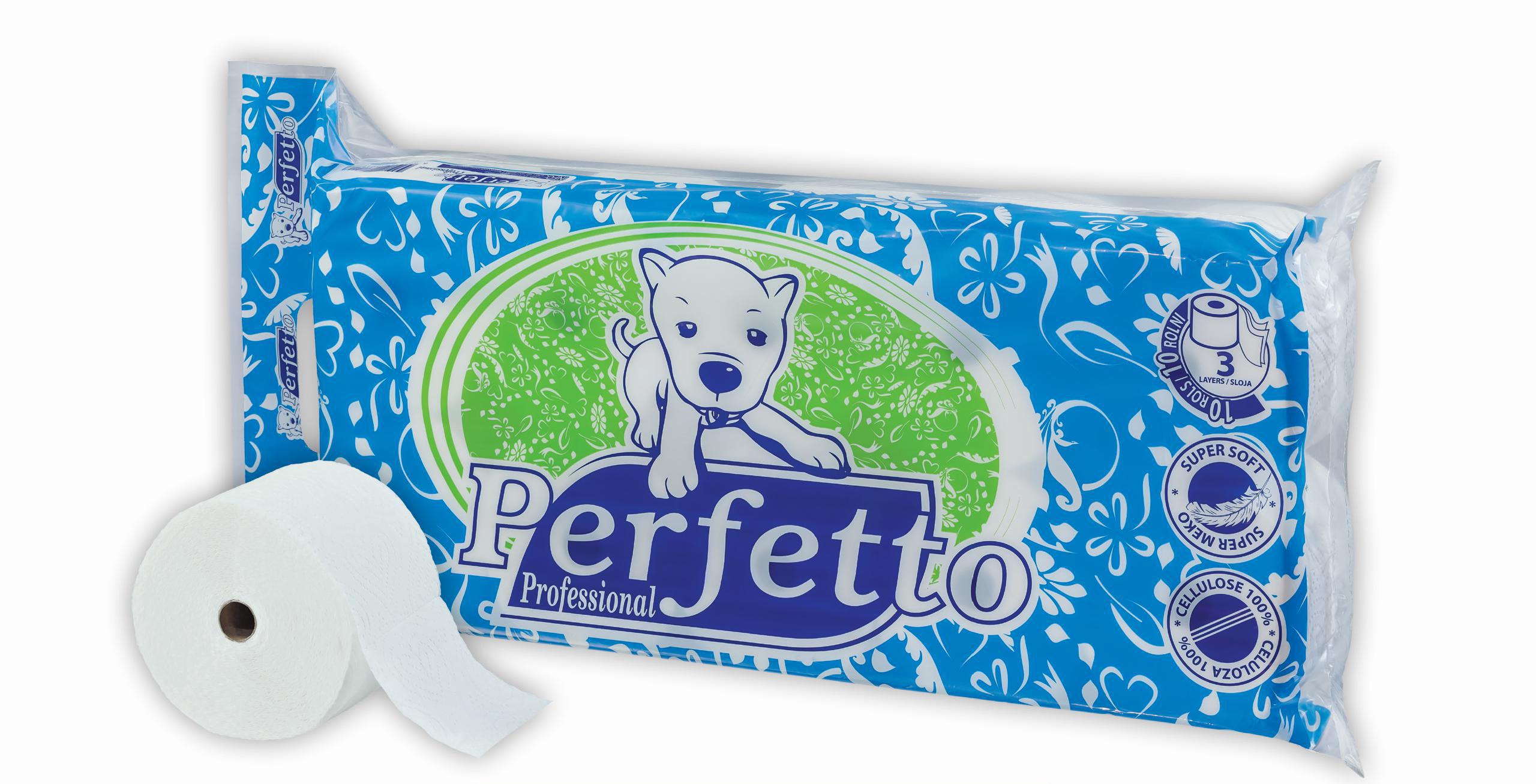 perfetto professional toalet papir 8 + 2