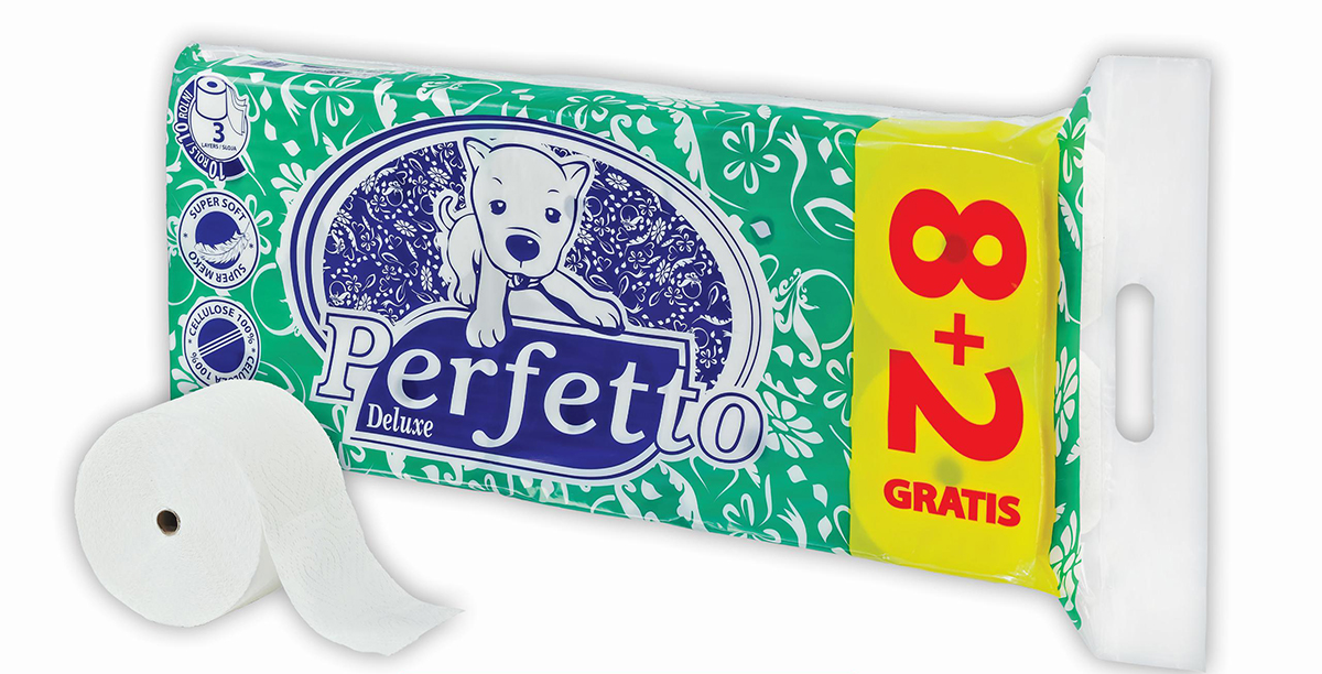 perfetto deluxe toalet papir 8 + 2
